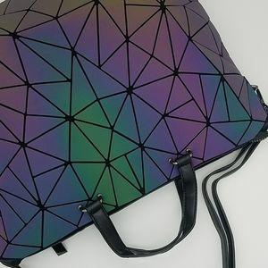 🍭 Reflective Geometry Fashion Tote Bag Laptop Bag